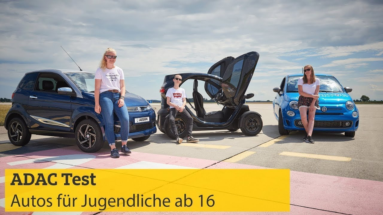 autos f r jugendliche ab 16 im test mit geschwindigkeitsangabe adac 2018 youtube. Black Bedroom Furniture Sets. Home Design Ideas