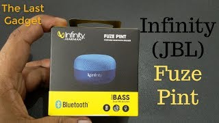 Infinity JBL Fuze Pint Unboxing & Review In Hindi | Deep Bass Portable Wireless Speaker Price At 749