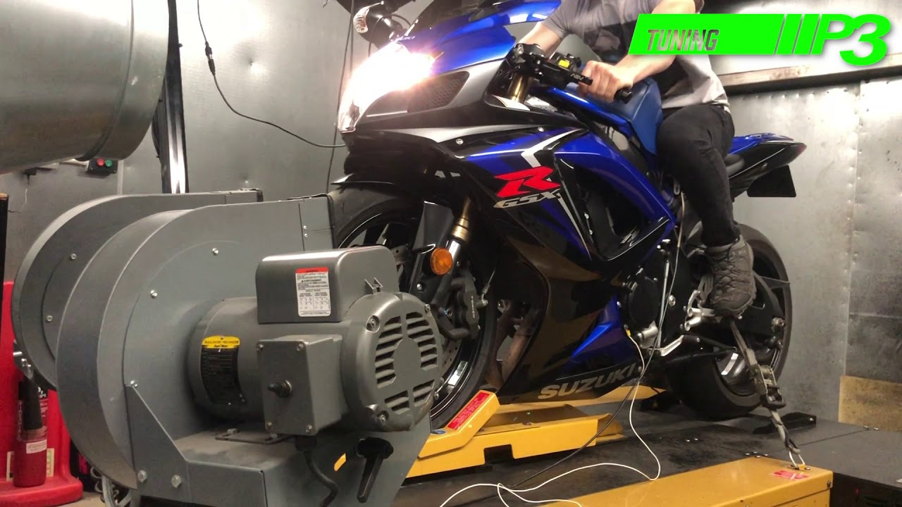 Suzuki GSXR 600 K7 Full Custom ECU Flash, K&N air filter, Std down pipes  with Scorpion Silencer and