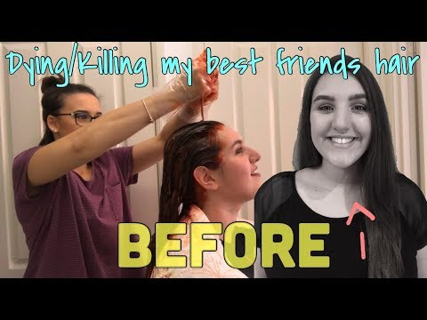 DYING/KILLING MY BEST FRIENDS HAIR RED (INEXPERIENCED & DISASTEROUS)