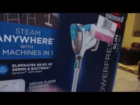 Bissell Powerfresh Slim Steam Mop Unboxing Youtube