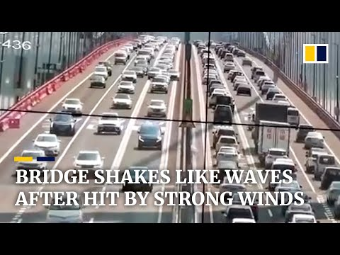 Bridge In China Shakes Like Waves After Being Hit By Strong Winds