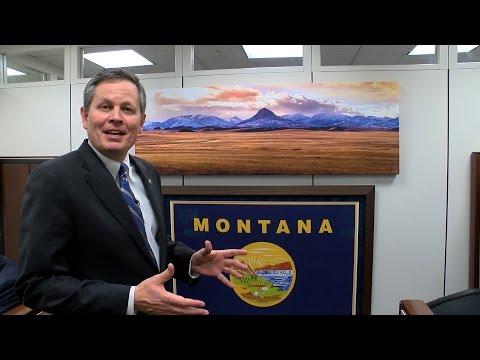Office Space: Steve Daines' Montana Hunting Lodge