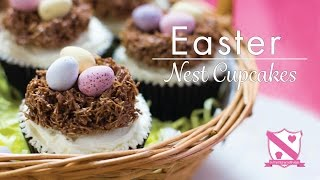 Hidden Centre Easter Egg Nest Cupcakes - In The Kitchen With Kate