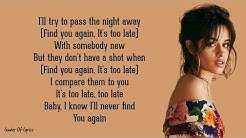 Mark Ronson - FIND U AGAIN (Lyrics) ft. Camila Cabello