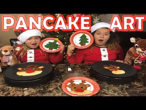 PANCAKE ART CHALLENGE - CHRISTMAS EDITION