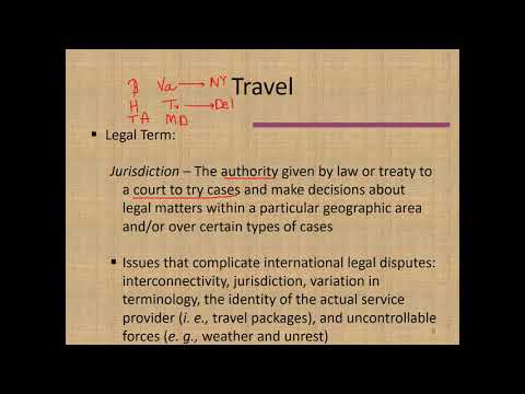 Lecture for Chapter 13: Legal Responsibilities in Travel and Tourism (HAMG 1340)