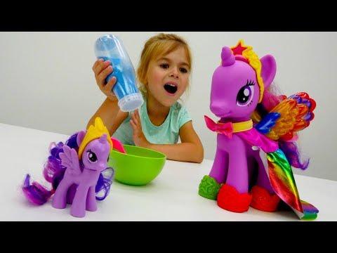Большие и маленькие пони. Игрушки Май Литл пони