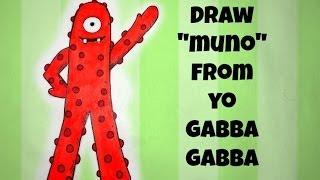 EASY How To Draw Muno From Yo Gabba Gabba