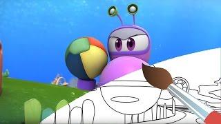Мультик - раскраска - Марин и его друзья - Здравствуй, Аквавилль! развивающее видео для детей