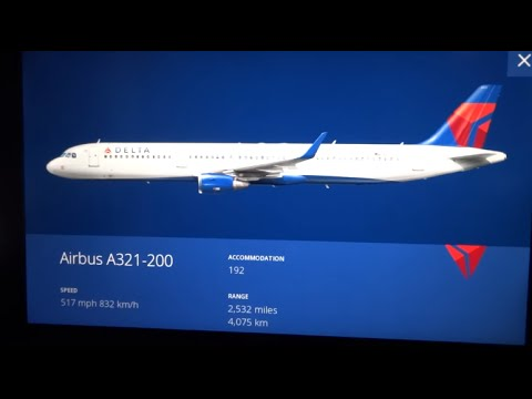HD) Delta Air Lines Airbus A321 First Class (IFE) Inflight