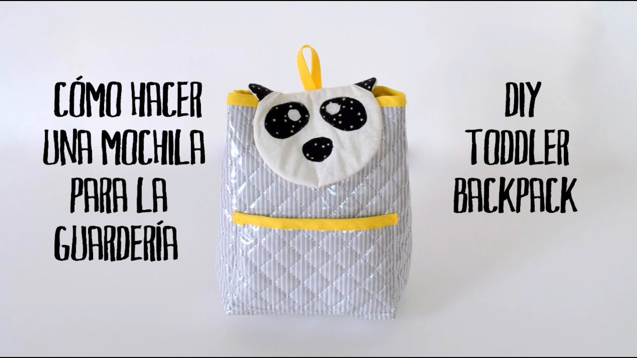 Mochila para la guardería - DIY toddler backpack - YouTube