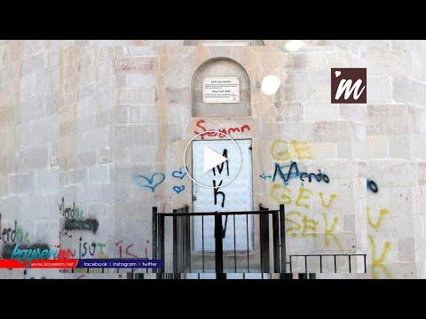 Kayseri'de tarihi kümbetlere sprey boyayla zarar verdiler