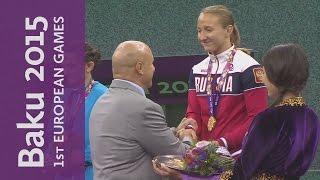Lazinskaia wins Gold for Russia | Wrestling | Baku 2015 European Games