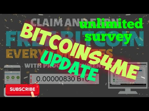 UPDATE | EARN BITCOIN ANSWERING SIMPLE SURVEYS
