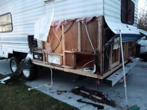 Fleetwood Prowler Rv Water Damage Repair Youtube