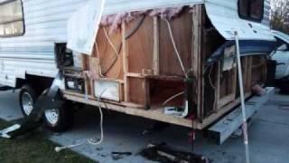 Fleetwood Prowler RV water damage repair