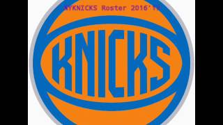 Knicks roster 2016'17