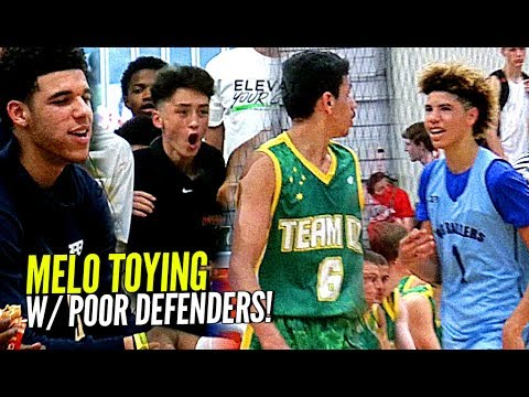 Thumbnail: LaMelo Ball TOYING w/ Defenders w/ Lonzo Watching! Big Ballers SPANK Poor Australian Team 😕