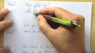 Engelska 6 - Frågor