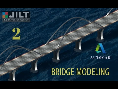 BRIDGE MODELING - AUTOCAD 3D -  DESIGN - 2 (Dimensions given for practice)