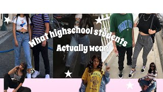 WHAT HIGHSCHOOL STUDENTS ACTUALLY WEAR // MONTCLAIR // Priscilla
