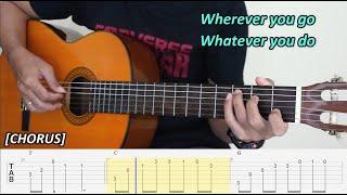 Right Here Waiting - Richard Marx - Fingerstyle Guitar Tutorial TAB + Chords + Lyrics