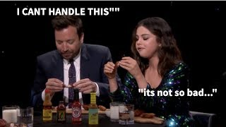 Selena Gomez being TOUGHER than Jimmy Fallon for 3 minutes straight