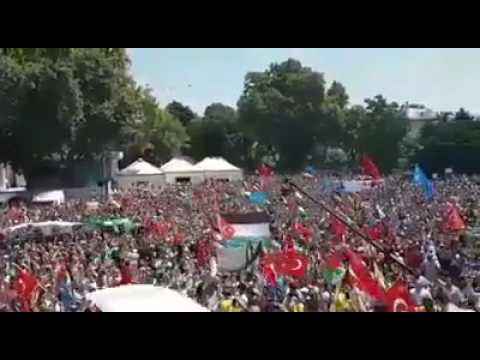 Turkey revolution for supporting Palestinian