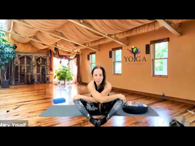 Yin Yoga with Tennis Balls and blocks