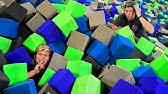 HIDE AND SEEK IN 100,000 FOAM PIT CUBES!! *Ninja Warrior Trampoline Park Challenge*