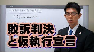 敗訴判決と仮執行宣言/厚木弁護士ch・神奈川県