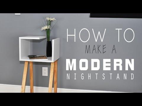 How To Make a Modern Nightstand - DIY