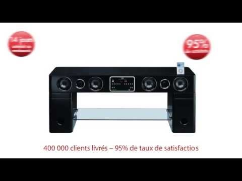 Meuble tv watts avec syst me audio youtube for Meuble audio