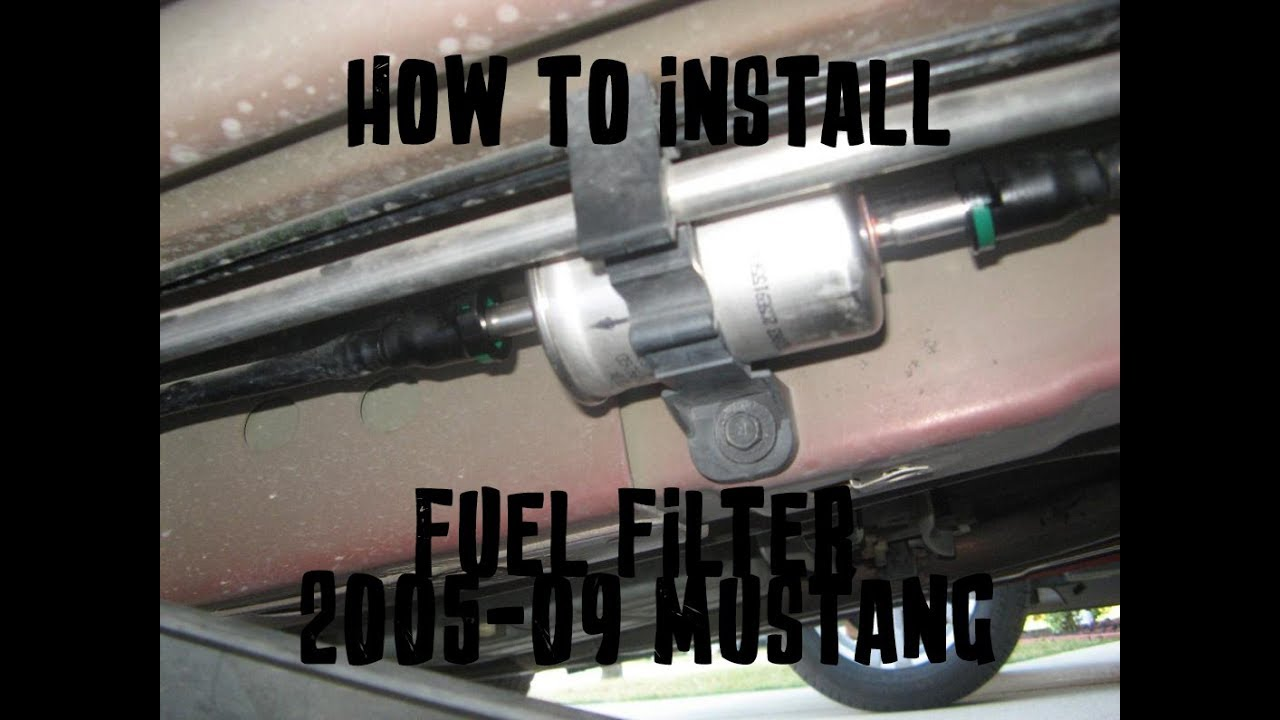 how to change a fuel filter - 2005-10 mustang gt - youtube  youtube