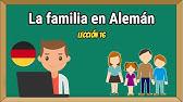 Miembros De La Familia En Aleman Youtube