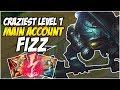 CRAZIEST LEVEL 1 ON FIZZ - Climb to Master S8, Diamond Promo | League of Legends