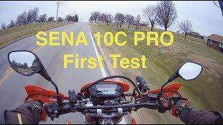 SENA 10C Pro First Video and Audio Test ~ Honda CRF250L