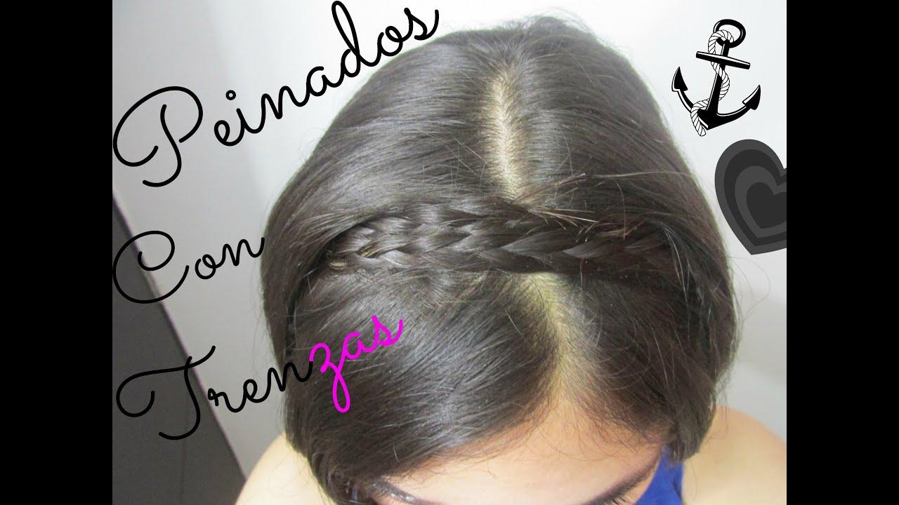 peinados fciles y rpidos con trenzas para cabello corto media melena youtube