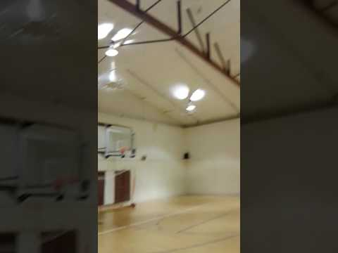 Hot Girl Shoots Basketball Shot From Half-Court BACKWARDS ! Trick Shot NBA Half Court Shot Backwards