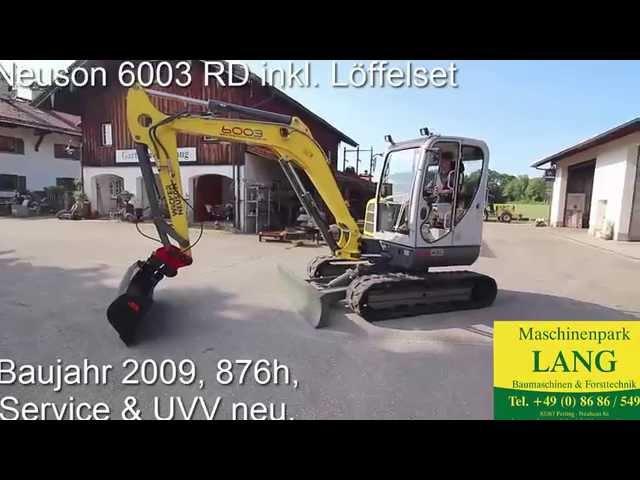 Wacker Neuson 6003 RD Minibagger DEMO @ Lang Machinery