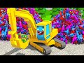 Excavator and Magic Toy in the City - NEW Children Cartoon 3D Animation Cars & Trucks Stories