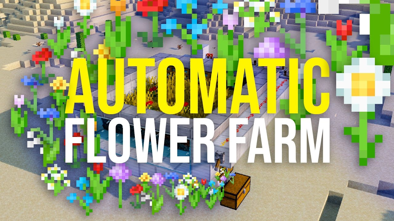 How To Build A Flower Farm In Minecraft Simple Easy Youtube
