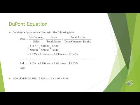 The DuPont Equation and Equity Multiplier - Penn State World Campus