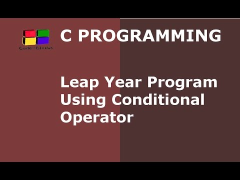 C Program to Check Whether Year is Leap or Not Using Conditional Operator | Hindi