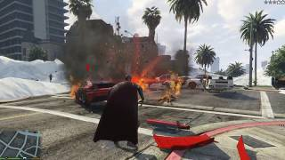 GTA 5 - SUPERMAN VS TSUNAMI BIG WAVE / SUPERMAN MELAWAN TSUNAMI 😱