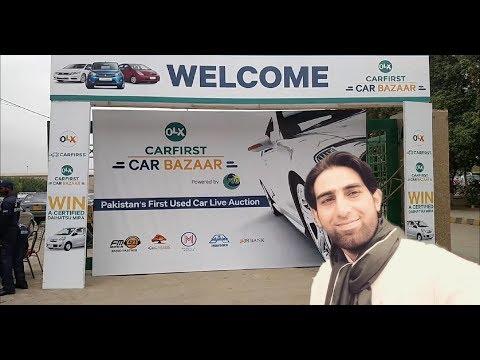 Used Car Bazar live auction at Expo Center Karachi