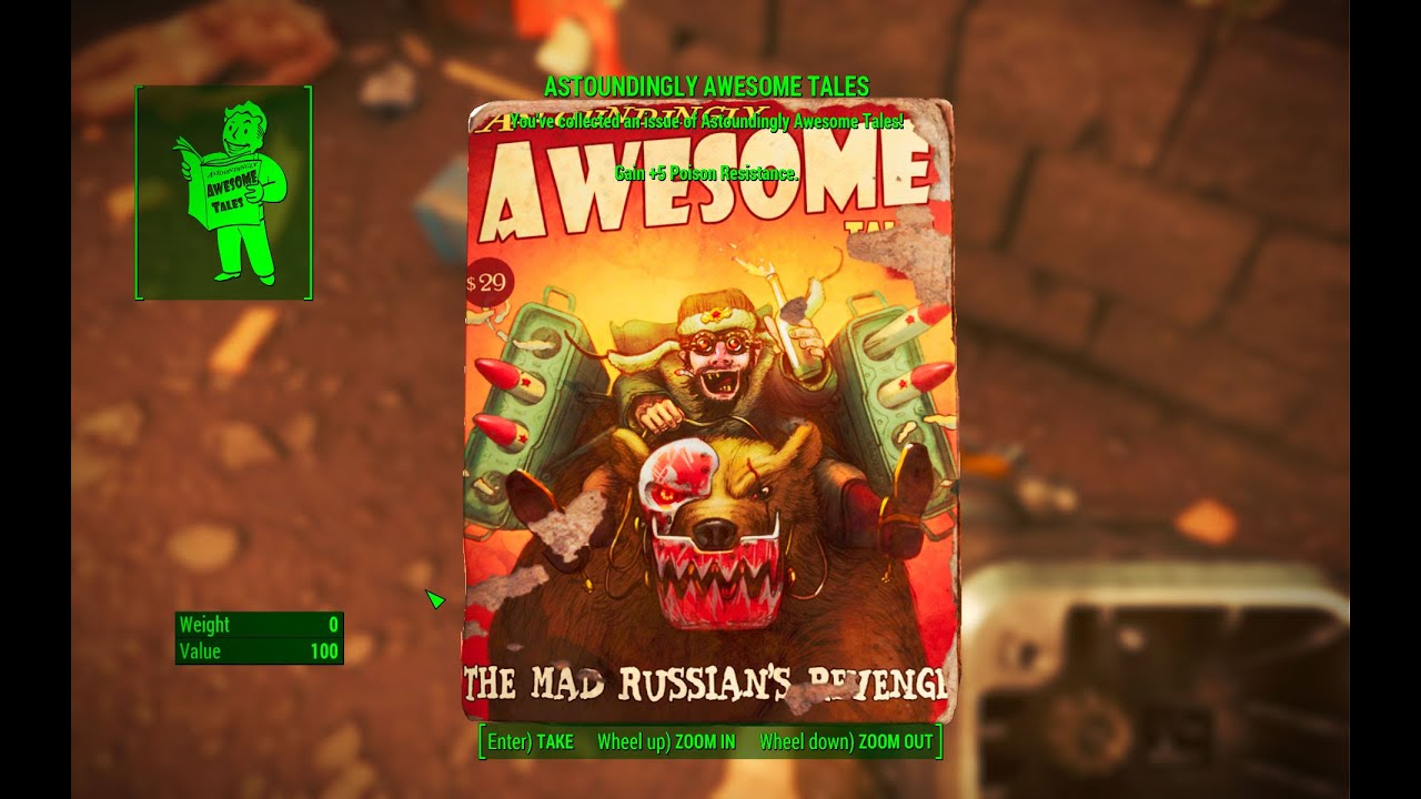 astoundingly awesome tales magazine pickman gallery fallout 4