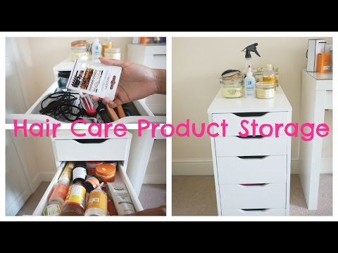 Natural Hair Care Product Storage