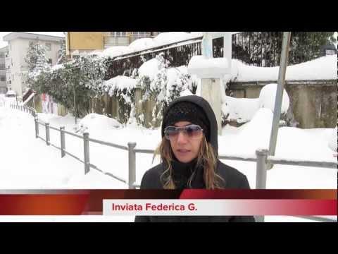 nevicata ad Ancona Monte Dago Pinocchio febbraio 2012  TG speciale